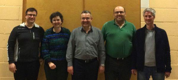TVJ Vorstand 2015 (v.L.n.R. Torsten Tuttas, Irene Neumann, Stefan Wolf, Thomas Fischbach, René Falkenstein)