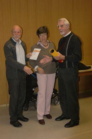 Verleihung 50. Sportabzeichen (in Gold) an Herbert Gallinat